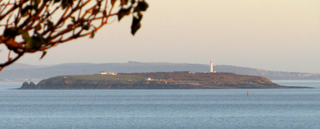 view of flat holm island